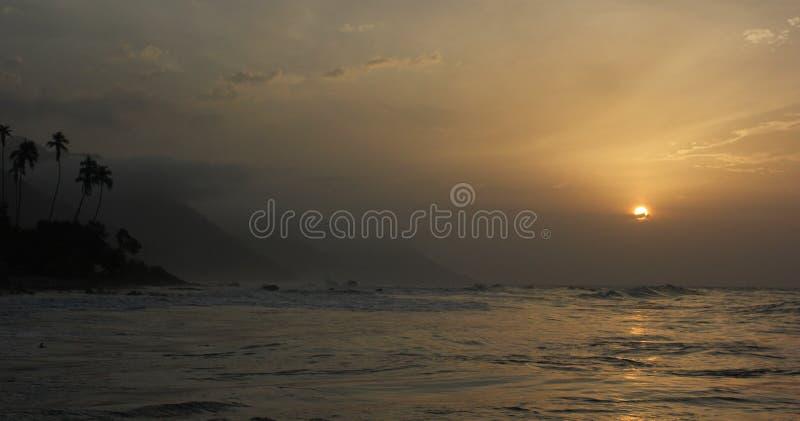 Заход солнца Choroni стоковые фото