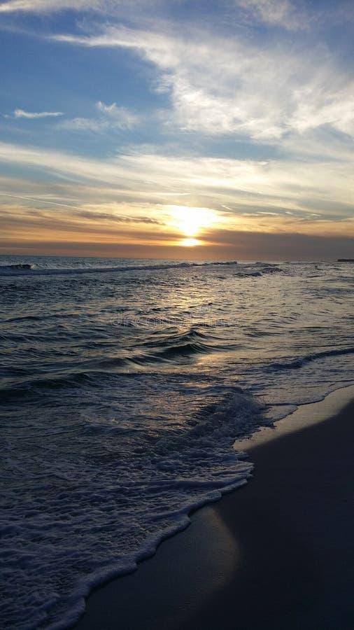 Заход солнца Destin стоковая фотография rf