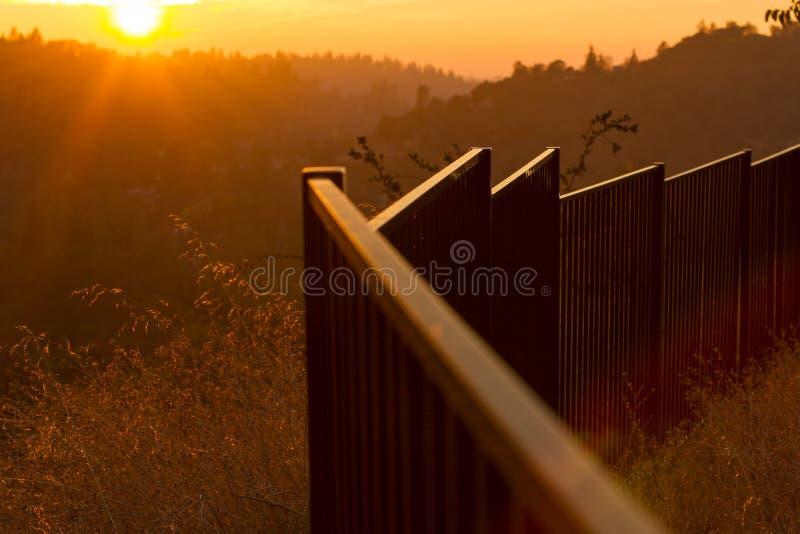 Заход солнца El Dorado стоковая фотография
