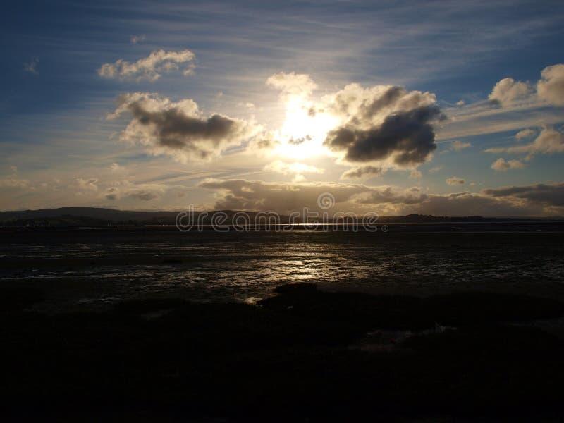 Заход солнца Exmouth стоковые изображения