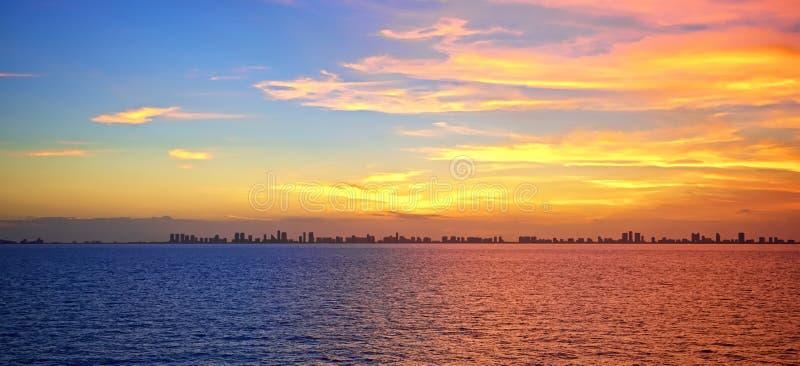 Заход солнца Fort Lauderdale стоковые изображения rf
