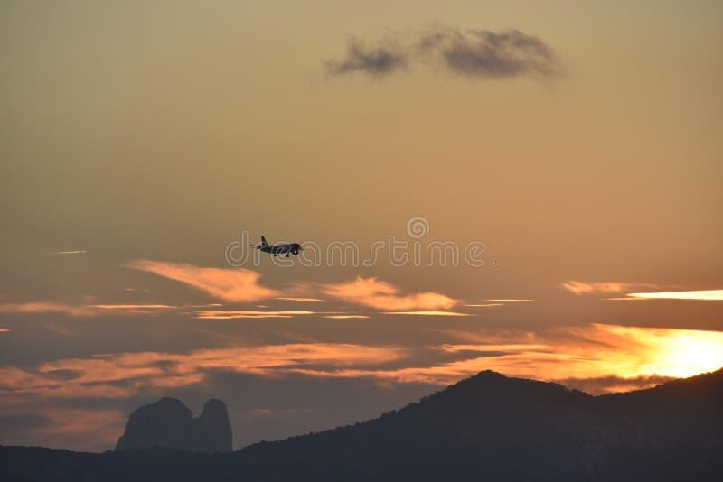Заход солнца @ Ibiza стоковое изображение rf