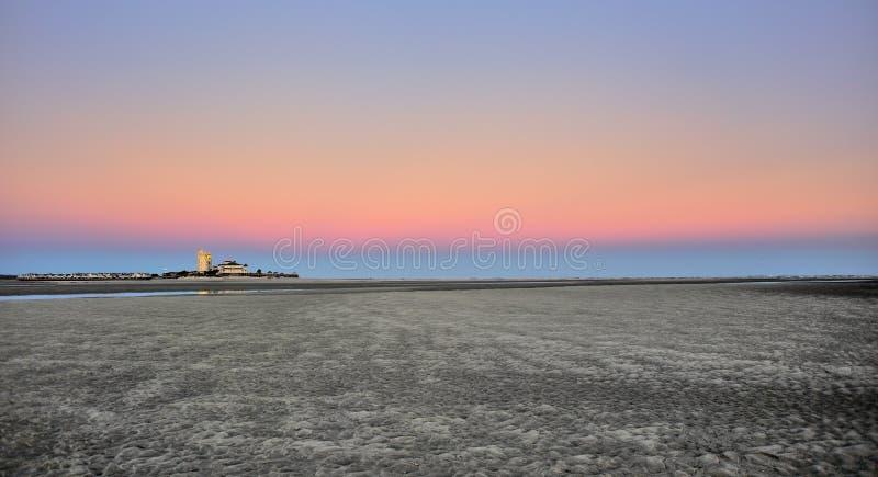Заход солнца Sandy стоковые изображения