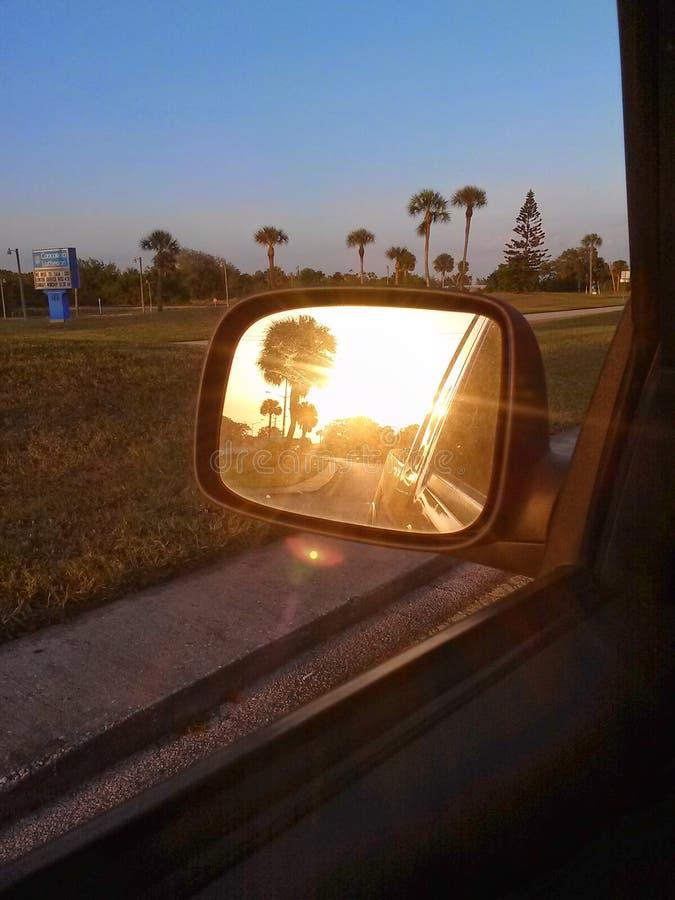 Заход солнца Sideview стоковая фотография