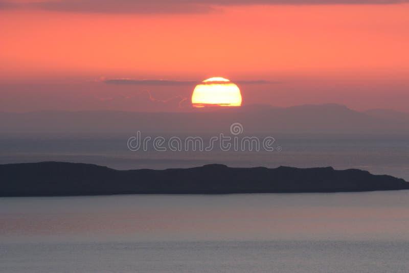Заход солнца Skye стоковые фото