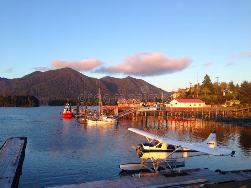 Заход солнца Tofino, остров ванкувер, Канада стоковые фото