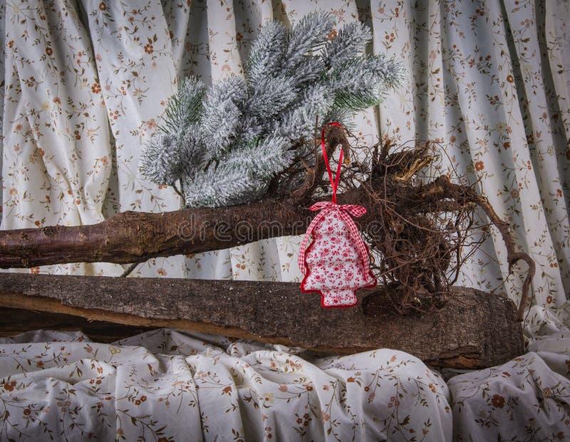 Захолустное украшение рождественской елки хлопка стоковая фотография rf