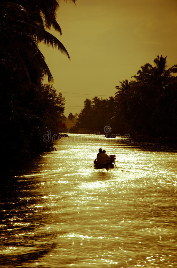 Заходы солнца Кералы стоковое фото