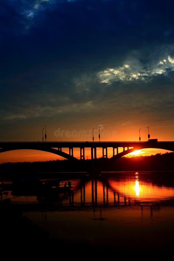 Заходящее солнце стоковая фотография rf