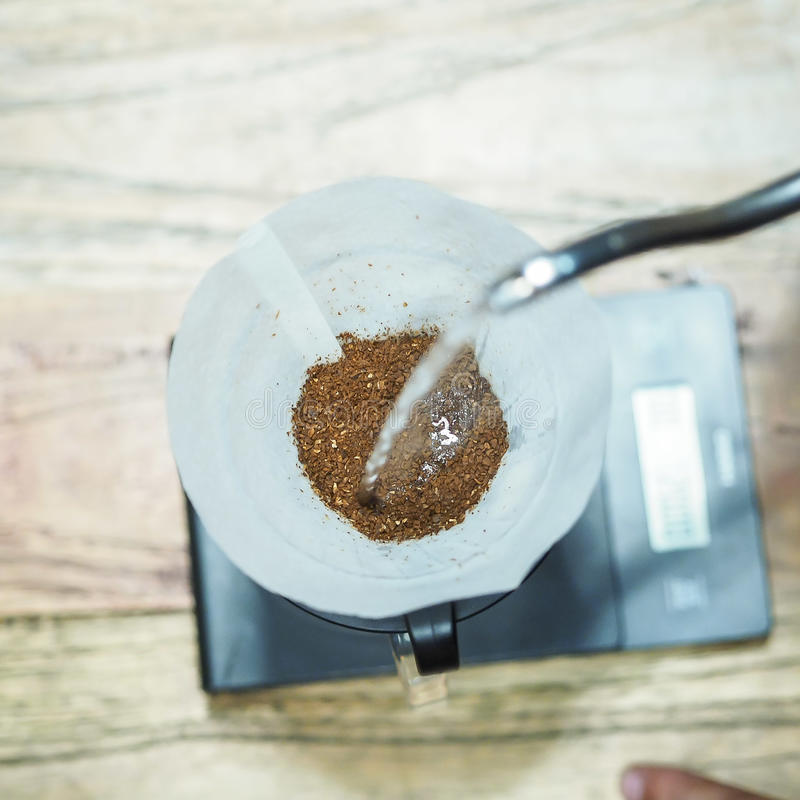 Зацветает ваш кофе первое стоковое фото rf