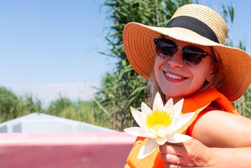 Зацветая лилия воды стоковая фотография rf