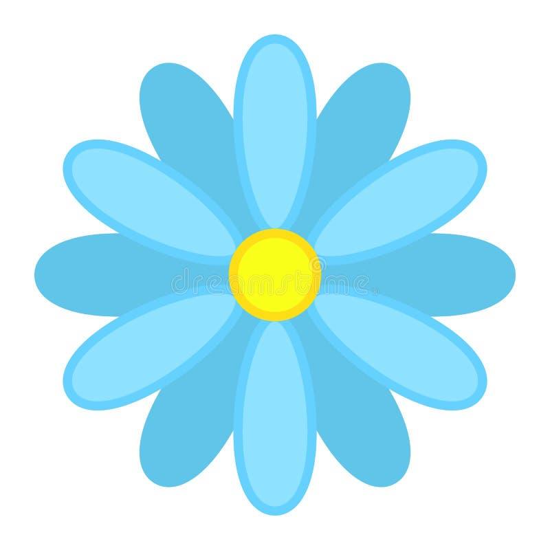 Зацветите плоские значок, пасха и праздник, знак природы иллюстрация штока