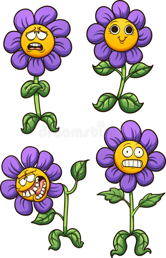 зацветите пурпур иллюстрация штока