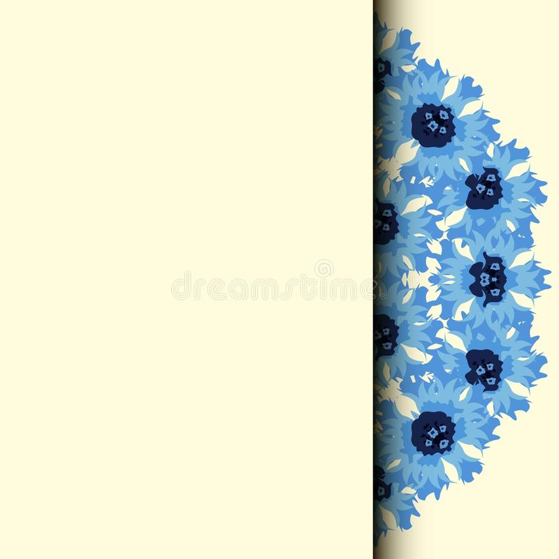 зацветите рамка граница флористическая Cornflower букета иллюстрация штока