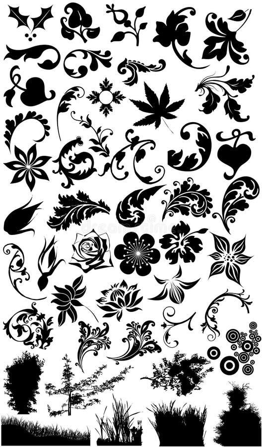Download зацветите силуэты травы иллюстрация штока. иллюстрации насчитывающей бобра - 18380597