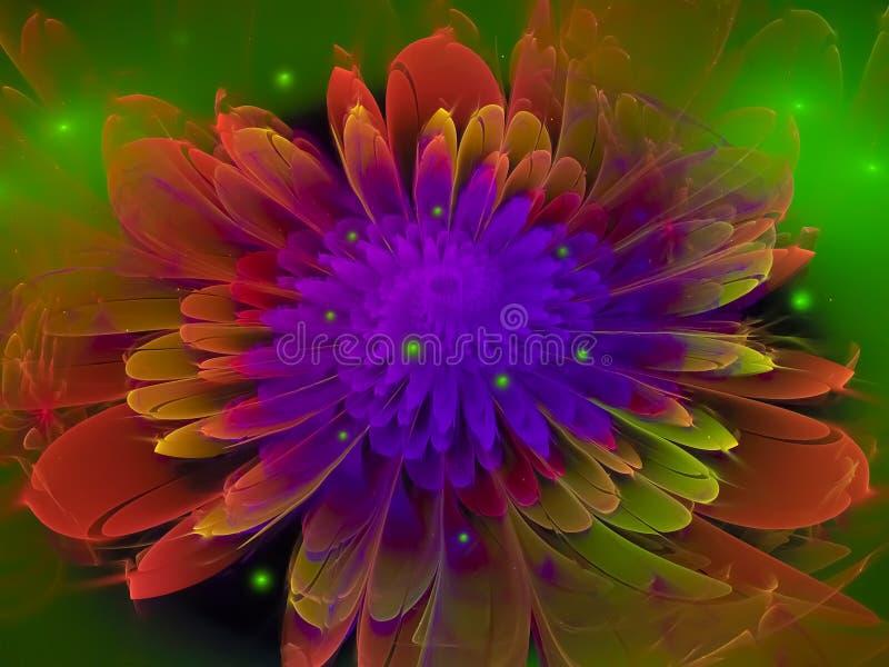 Зацветите футуристическое фрактали абстрактное, дизайн, представьте стоковая фотография rf