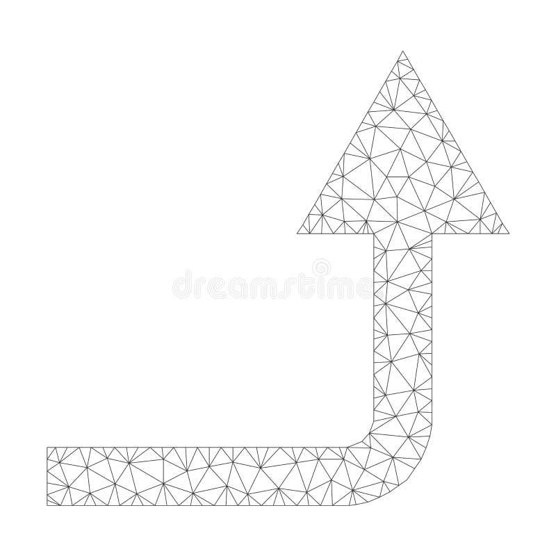 Зацепите вектор вращайте вперед значок бесплатная иллюстрация