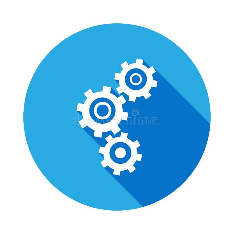 Зацепляет значок с длинной тенью Элемент иллюстрации ремонтных услуг автомобиля Знаки и значок для вебсайтов, веб-дизайн символов иллюстрация штока