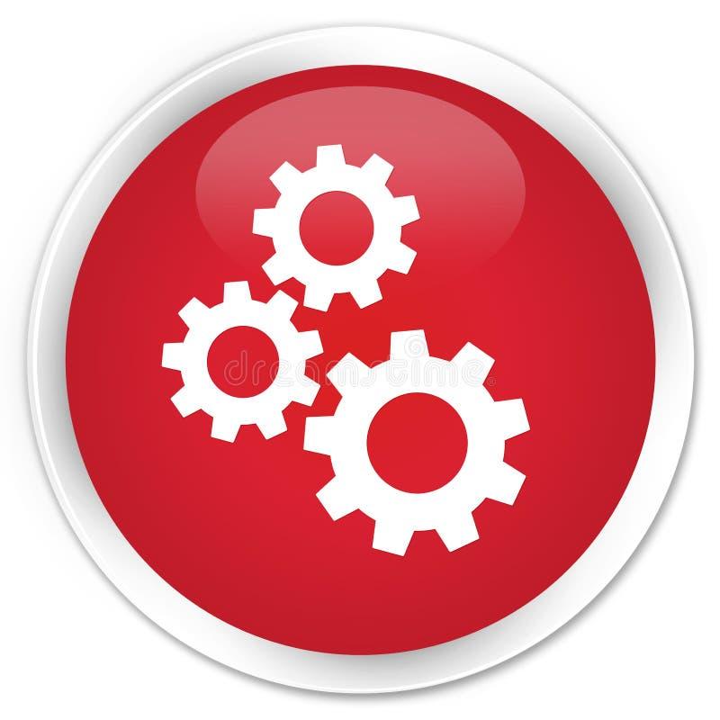 Зацепляет кнопку значка наградную красную круглую иллюстрация штока