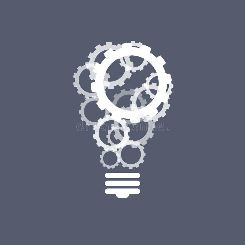 Зацепляет концепцию воодушевленности электрической лампочки иллюстрация штока