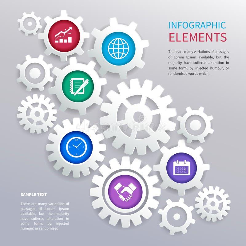Зацепляет шаблон infographics иллюстрация вектора