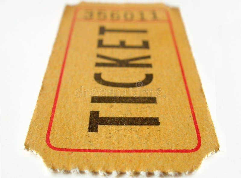 заштырите билет стоковое фото
