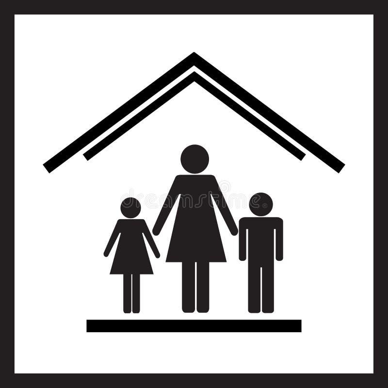 Защита матерей с children1 стоковые изображения