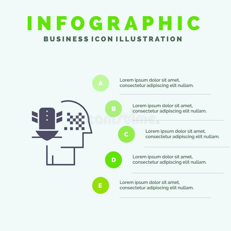 Защита персональных данных, персональная информация, защита, защита, надежная инфографика значков, 5 шагов Фон презентации бесплатная иллюстрация