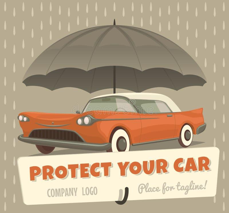 Защитите ваш автомобиль Стоковые Изображения RF