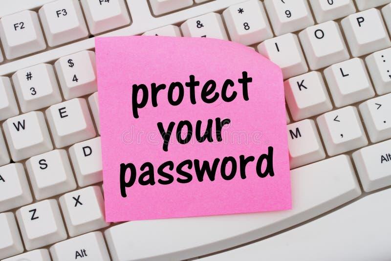 Защитите ваш пароль стоковые изображения rf