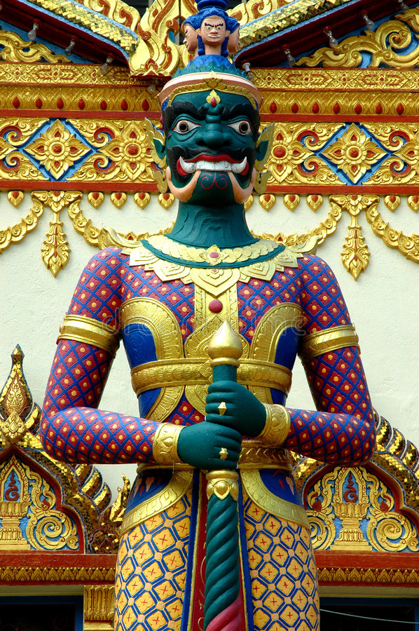 защитите висок тайский стоковые изображения