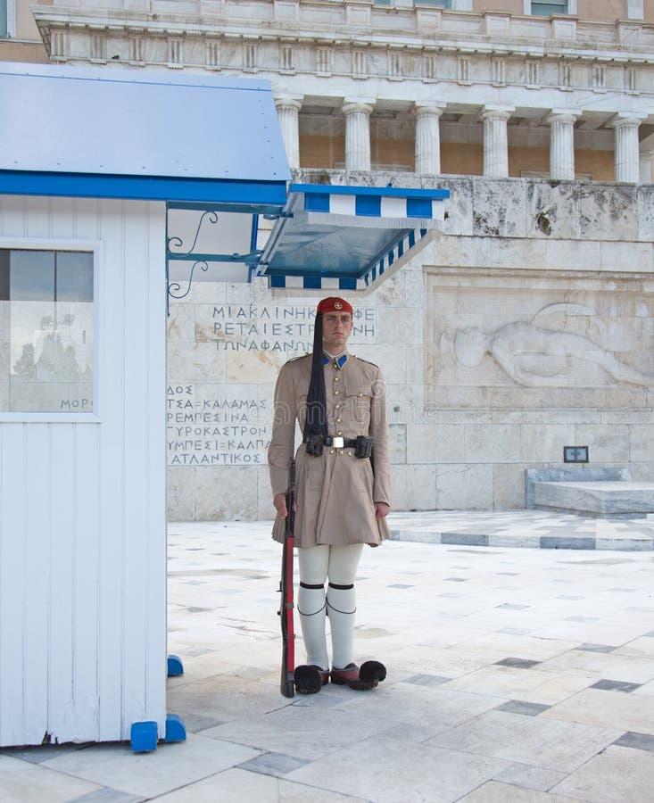 Защитите на президентском дворце, Афин, Греции стоковое изображение rf