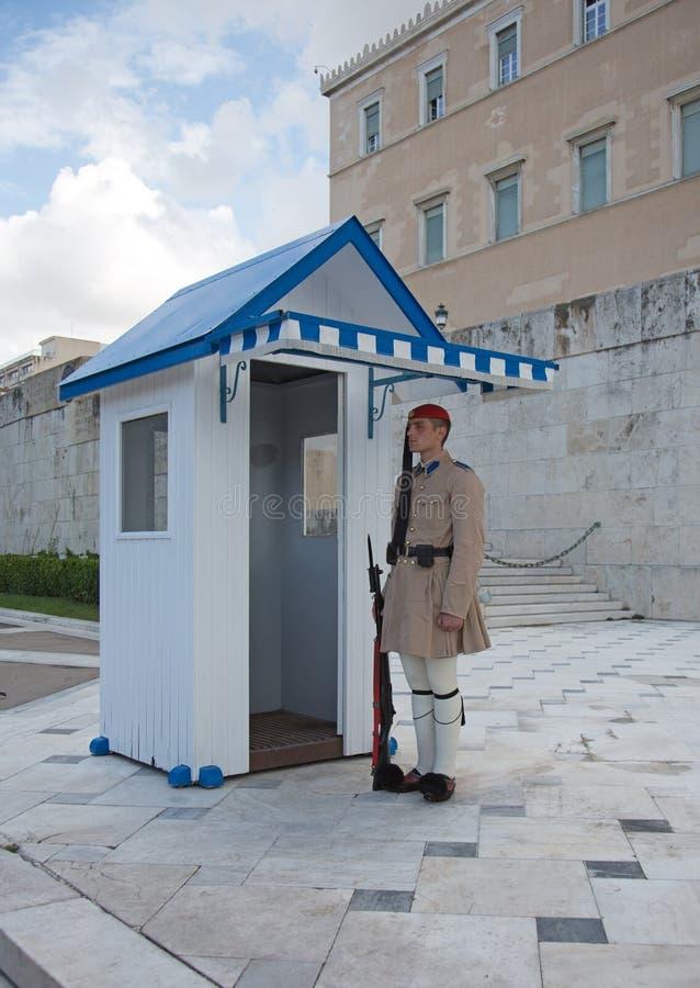 Защитите на президентском дворце, Афин, Греции стоковые изображения rf