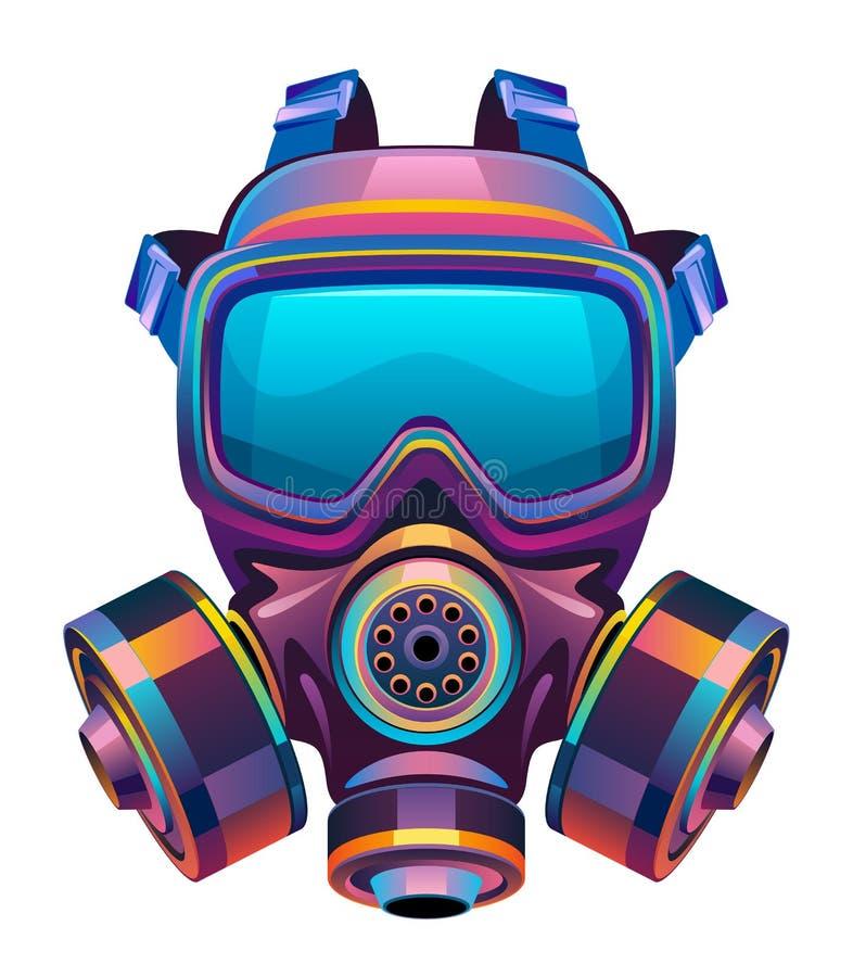 Защитная токсическая маска иллюстрация штока