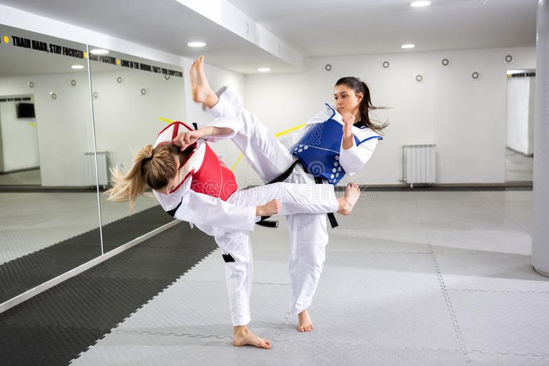 Защитная шестерня в sparring боевых искусств стоковое фото rf