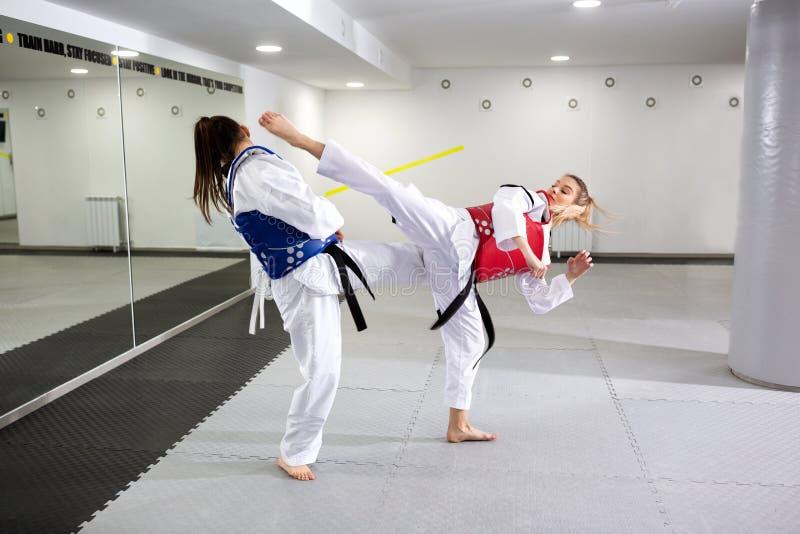 Защитная шестерня в sparring боевых искусств стоковые изображения rf