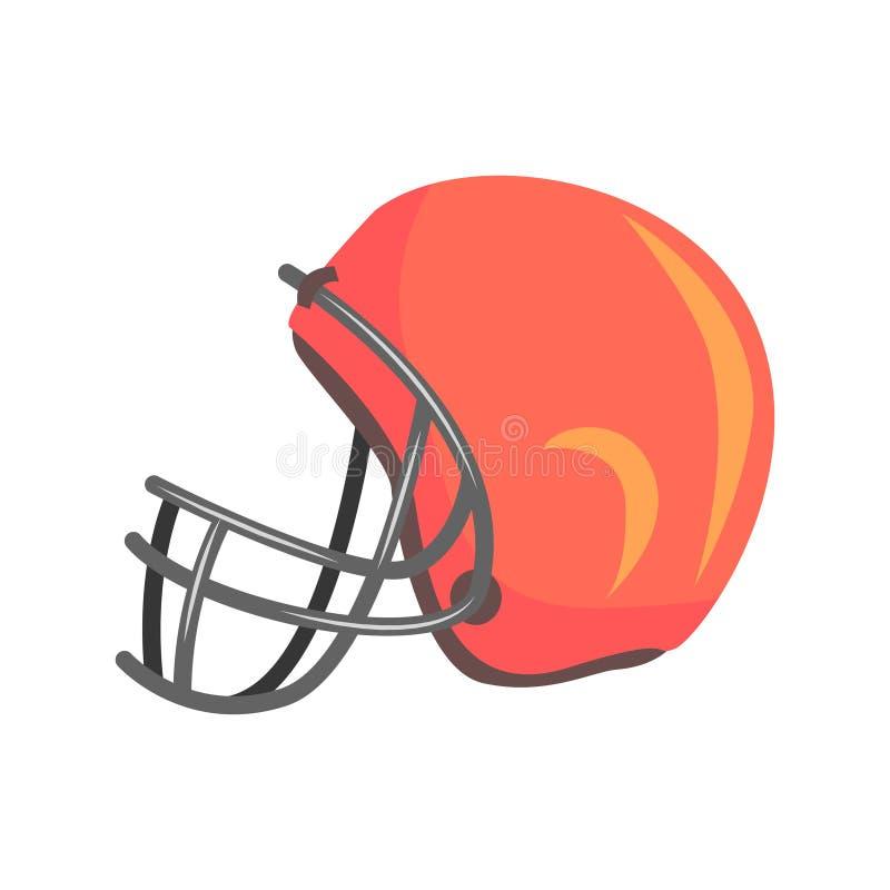 Защитный шлем игроков с лицевым щитком гермошлема, частью серии объектов американского футбола связанной изолированной Sportive иллюстрация штока