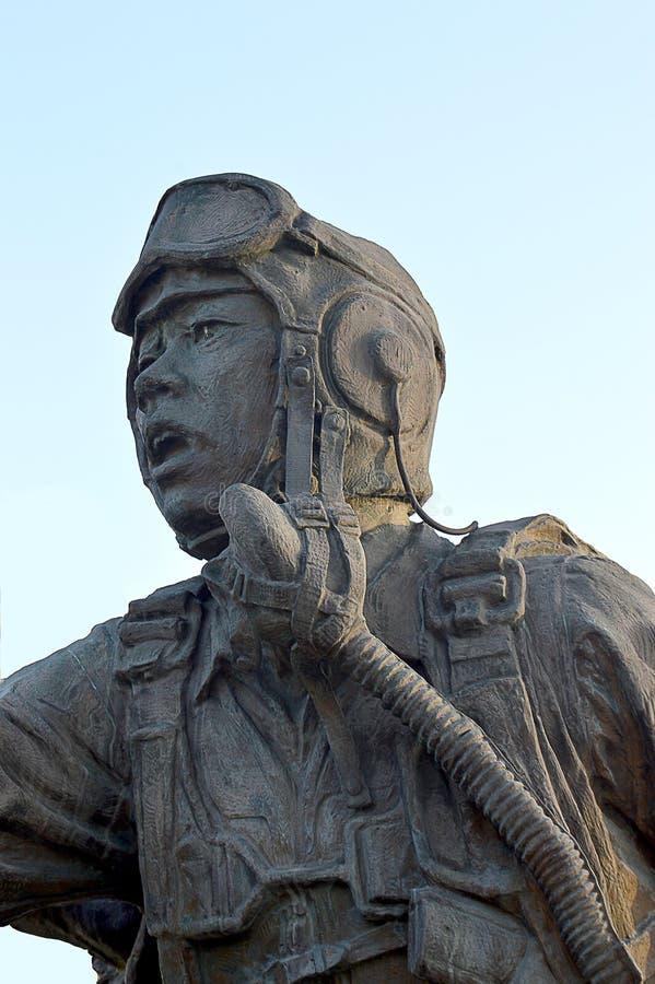 Защищать отечество, статуи мемориала Корейской войны, Сеул, Южная Корея стоковые фотографии rf