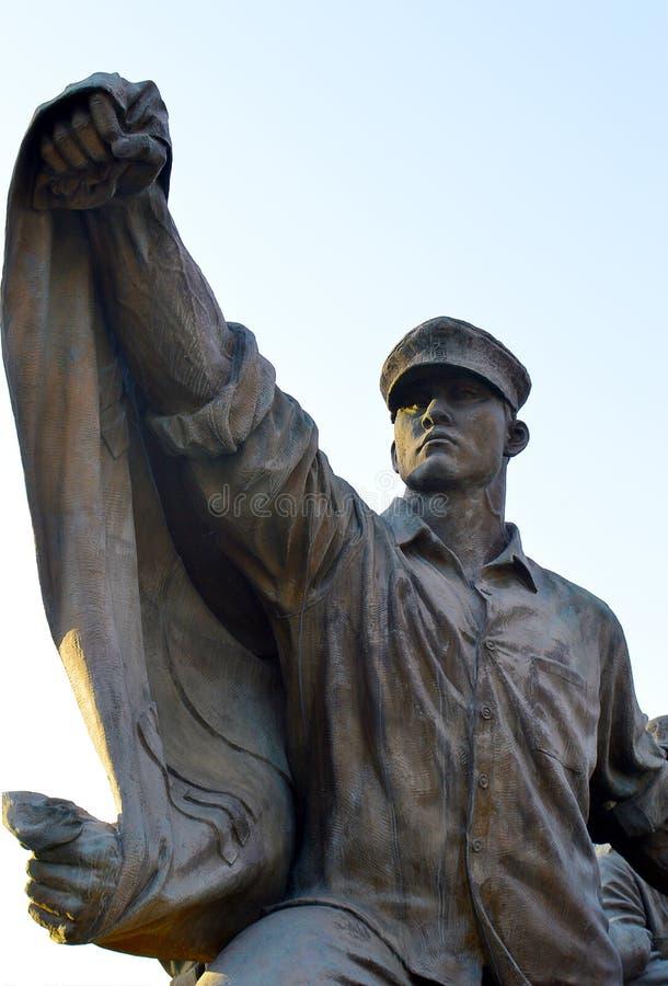 Защищать отечество, статуи мемориала Корейской войны, Сеул, Южная Корея стоковые изображения rf