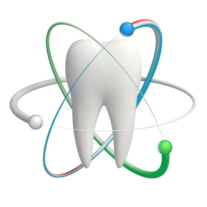 Защищенный зуб - реалистическая икона вектора 3d бесплатная иллюстрация