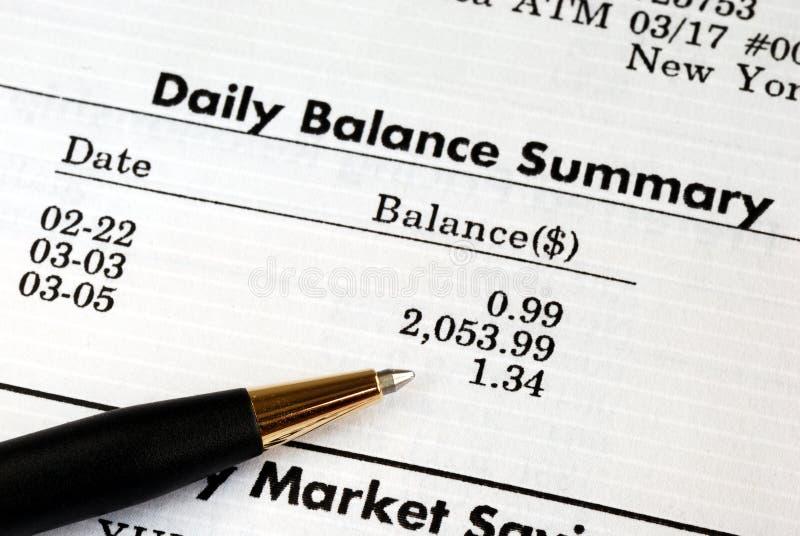заявление банковского чека учета ежемесячное стоковая фотография rf