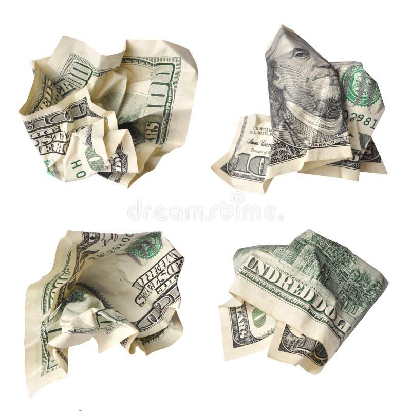 Задавленные доллары стоковые изображения rf