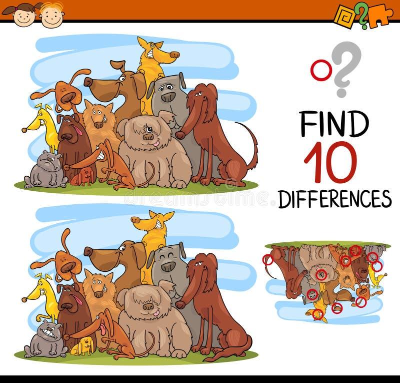 Задача разниц для детей иллюстрация штока