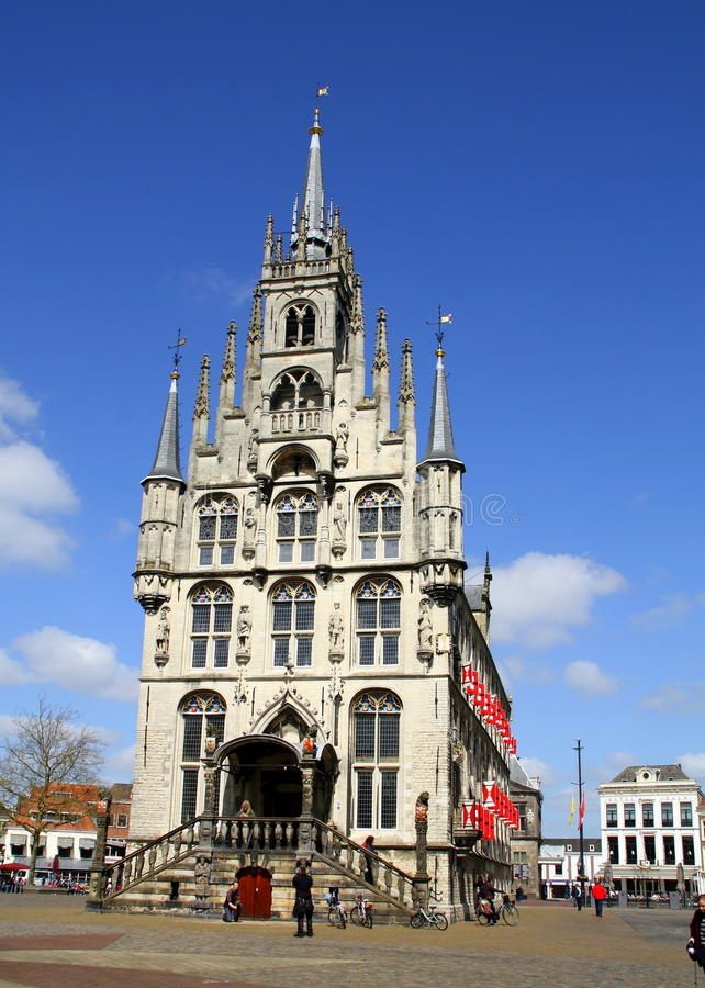 зала Венгрия города здания columned gouda стоковые изображения rf