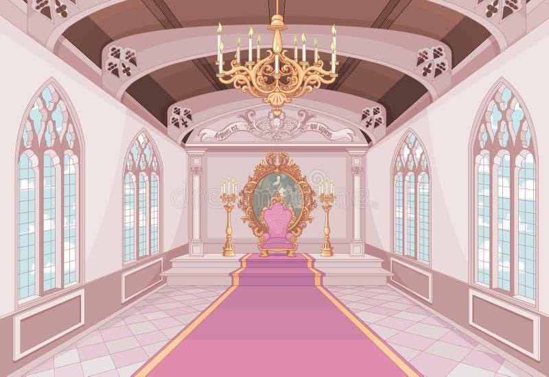 Зала замка иллюстрация вектора