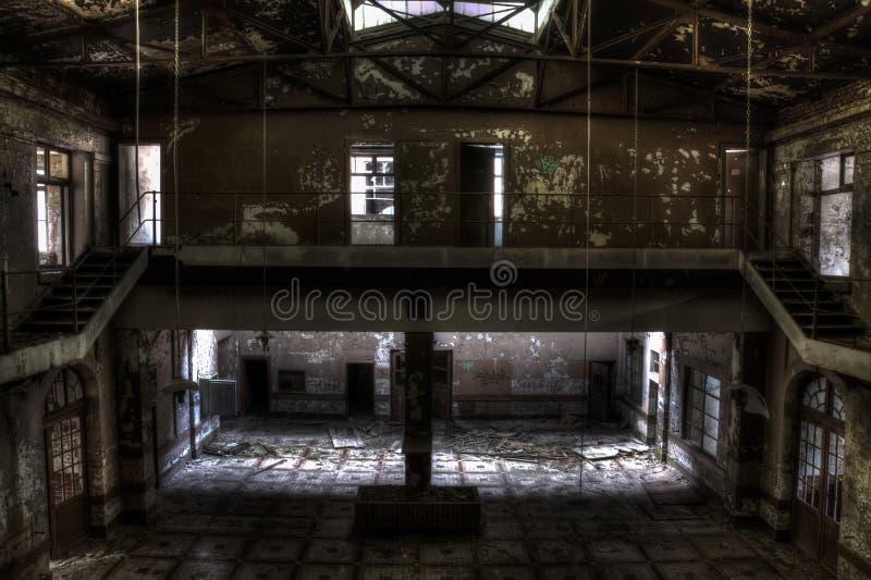Зала здания ямы шахты стоковое фото