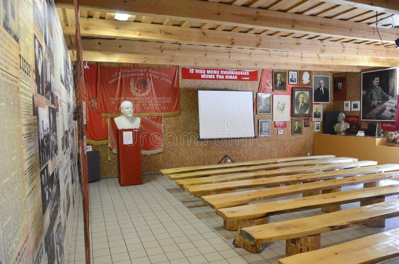 Зала музея в парке наследия СССР в Grutas, Литве стоковое фото rf