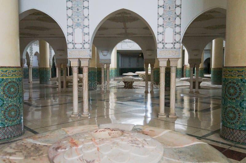 Зала омовения мечети Хасана II в Касабланке стоковое фото rf