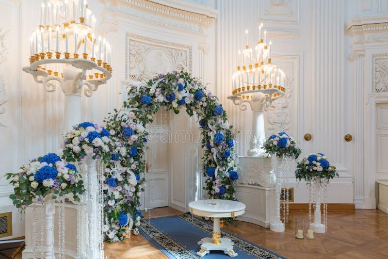 Зала свадебной церемонии стоковые изображения rf