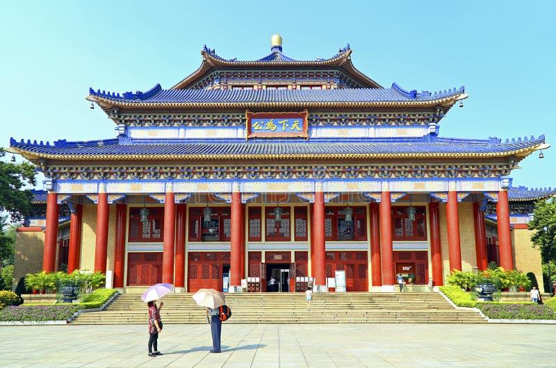 Зала Сунь Ятсен мемориальная, Гуанчжоу, фарфор стоковые фотографии rf